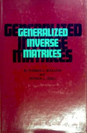 Generalized inverse matrices