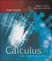 Cover of: Calculus, Single Variable | Robert Thomas Smith