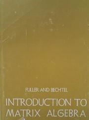 Introduction to matrix algebra