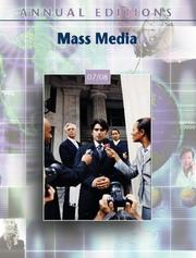 Cover of: Annual Editions: Mass Media 07/08 (Annual Editions : Mass Media) | Joan Gorham