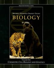 Cover of: Chemistry, Cell Biology and Genetics