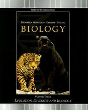 Cover of: Evolution, Diversity and Ecology