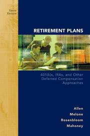 Retirement Plans by Jr., Everett T. Allen, Joseph J. Melone, Jerry S. Rosenbloom, Dennis F. Mahoney