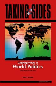 Cover of: Taking Sides: Clashing Views in World Politics (Taking Sides: Clashing Views on Controversial Issues in World Politics)