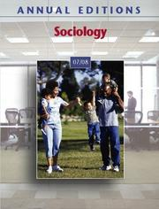 Cover of: Annual Editions: Sociology 07/08