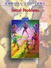 Cover of: Annual Editions: Social Problems 07/08