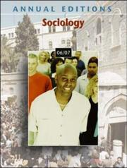 Cover of: Annual Editions: Sociology 06/07