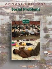 Cover of: Annual Editions: Social Problems 06/07