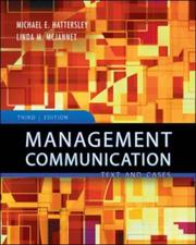 Cover of: Management Communication | Michael E. Hattersley
