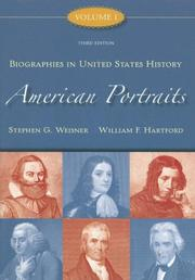 Cover of: American Portraits | Stephen Weisner
