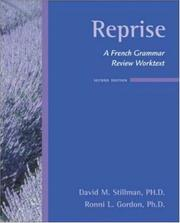 Cover of: Reprise: A French Grammar Review Worktext