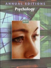 Cover of: Annual Editions: Psychology 06/07 (Annual Editions : Psychology) | Karen G Duffy