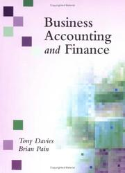 Business Accounting and Finance by Brian Pain, Tony Davies