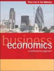 Cover of: Business Economics | Peter E. Earl