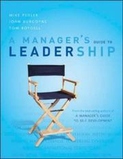 Cover of: A Manager