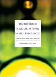 Cover of: Business Accounting and Finance | Tony Davies