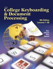 Cover of: Gregg College Keyboarding & Document Processing (Gdp), Lessons 1-60, Home Version, Kit 1, Word 2000 | Scot Ober