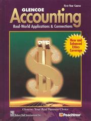 Cover of: Glencoe Accounting First Year Course Student Edition | McGraw-Hill