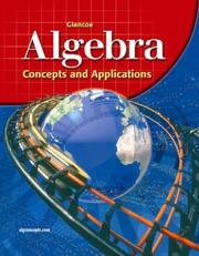 Cover of: Glencoe Algebra