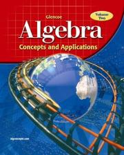 Cover of: Glencoe Algebra | McGraw-Hill