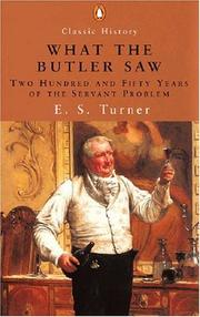 Cover of: What the Butler Saw | E. S. Turner