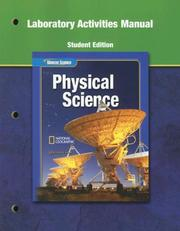 Glencoe Physical Science, Laboratory Activities Manual, Student Edition (Glencoe Science)