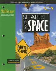 Cover of: MathScape: Seeing and Thinking Mathematically, Course 3, Shapes and Space, Student Guide (Mathscape:  Seeing and Thinking Mathematically) | McGraw-Hill