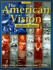 Cover of: The American Vision | Joyce Appleby