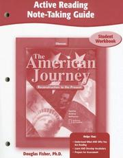 Cover of: The American Journey, Reconstruction to the Present, Active Reading Note-Taking Guide, Student Edition | McGraw-Hill