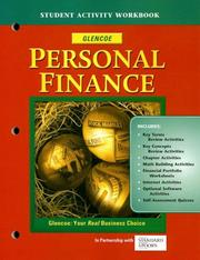 Cover of: Personal Finance, Student Activity Workbook