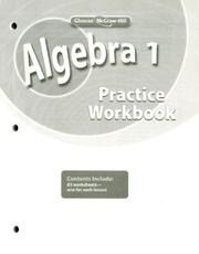 Cover of: Algebra 1, Practice Workbook | McGraw-Hill