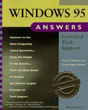 Cover of: Windows 95 answers