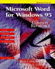 Cover of: Microsoft Word for Windows 95