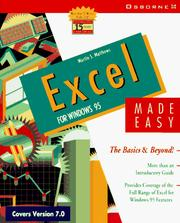 Cover of: Excel for Windows 95 made easy