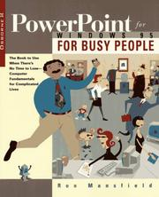 Cover of: PowerPoint for busy people | Ron Mansfield