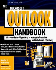 Cover of: The Microsoft Outlook handbook