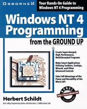 Cover of: Windows NT 4 programming from the ground up