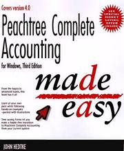 Cover of: Peachtree complete accounting for Windows made easy