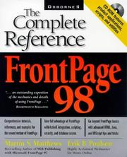 Cover of: FrontPage 98