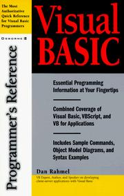 Visual Basic by Dan Rahmel