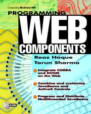 Cover of: Programming web components