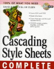 Cover of: Cascading style sheets complete