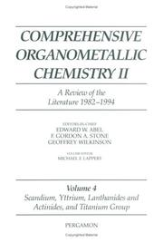Cover of: Comprehensive Organometallic Chemistry II  | M.F. Lappert