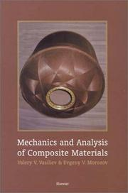 Cover of: Mechanics and analysis of composite materials |