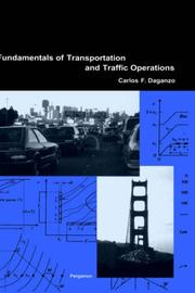 Cover of: Fundamentals of transportation and traffic operations