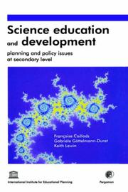Cover of: Science education and development
