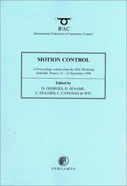 Cover of: Motion control (MC'98)