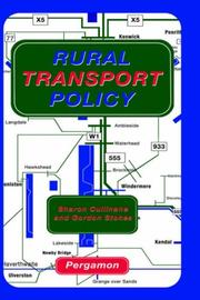 Cover of: Rural transport policy