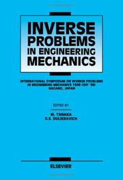 Cover of: Inverse problems in engineering mechanics | International Symposium on Inverse Problems (1998 Nagano-shi, Japan)
