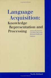 Cover of: Language acquisition by